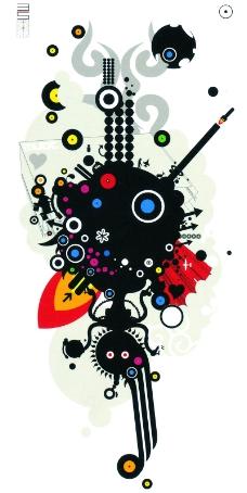 热潮涂鸦式设计0046