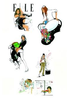 热潮涂鸦式设计0159