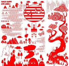 热潮涂鸦式设计0042