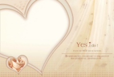 婚纱模板 心图片