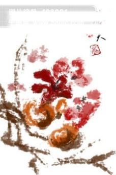 国画-秋实图笔刷