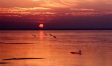 渔歌唱晚图片