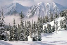 冬季在山里图片