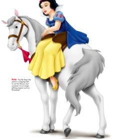 《白雪公主》系列之公主骑白马图片