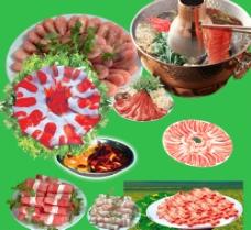 肉卷火锅图片
