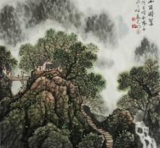 姜光明 国画 《山岗凝翠》图片