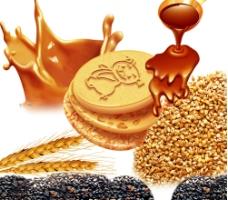 小麦黑芝麻巧克力饼干图片