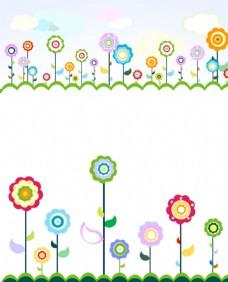 可愛的花朵矢量