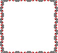 欧式像素花边图片