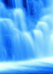 秀丽山水 瀑布美景 山涧溪流图片