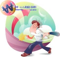 男性商業插畫0017