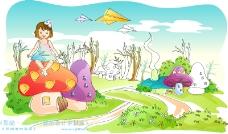 兒童線條插畫0043