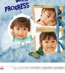 2009竖版剪贴风格日历图片
