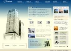 韩国现代企业类网站模板图片