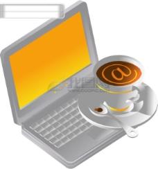 韩国 笔记本电脑 咖啡杯 矢量 AI格式