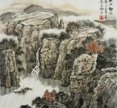 姜光明 国画 秋水动风凉图片